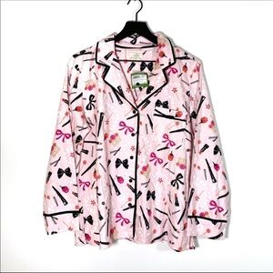 Kate Spade Makeup Cosmetic Pajama Top NWT size L